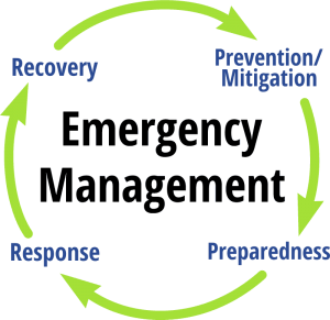 Emergency Management Process Graphic